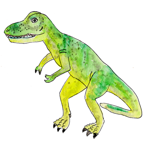 Mr. Ryan's Watercolor T-Rex