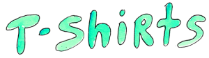 T-shirts - Watercolor teal wording